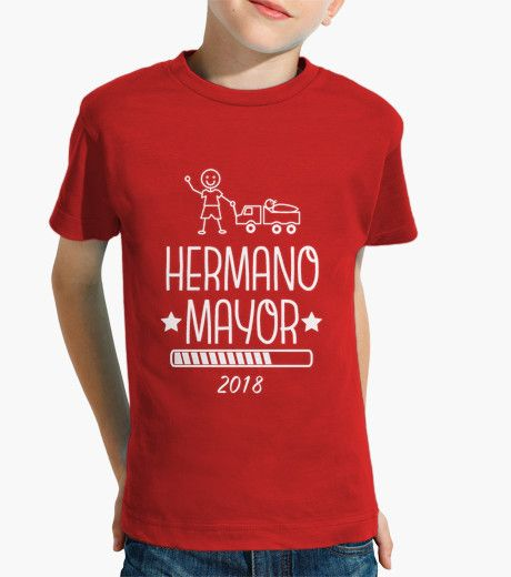 Camiseta Hermano Mayor 2018 rojo
