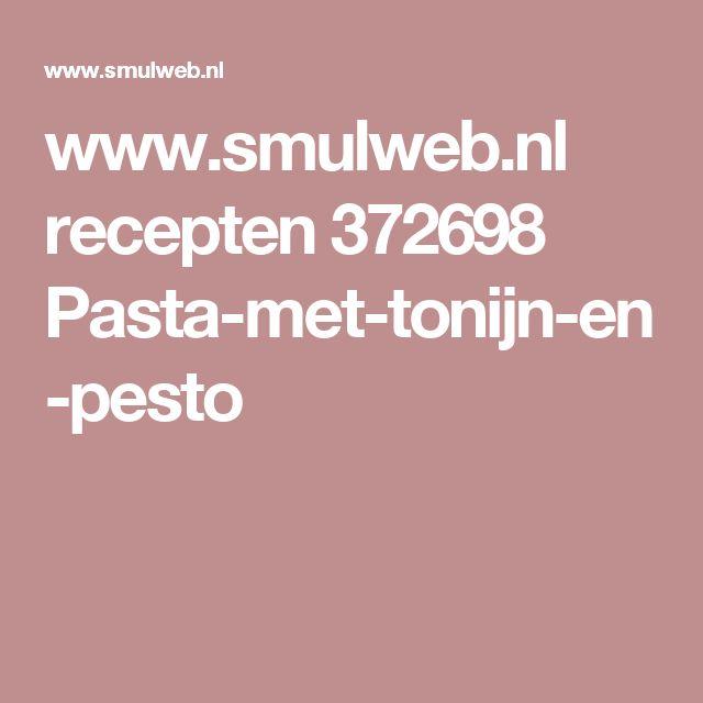 www.smulweb.nl recepten 372698 Pasta-met-tonijn-en-pesto