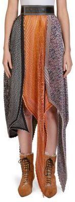 Loewe Silk Pleated Skirt