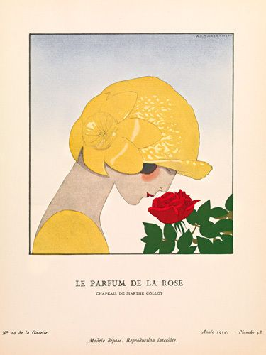 Le parfum de la rose by Gazette du Bon Ton - art print from Easyart.com