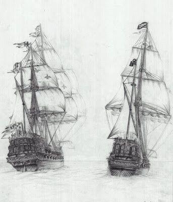 Gemi Karakalem Çalışması - Karakalem Siteniz,Karakalem Çalışmaları,Karakalem Çizim,Karakalem Portre