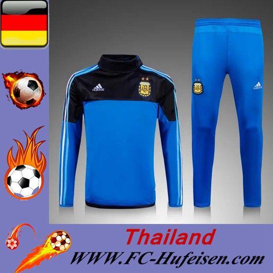 Schönsten Das Neue Trainingsanzüge Fussball Herren Kits Argentine Blau/Schwarz Seson 2015 2016 Günstig Online Shop Kaufen