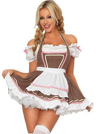 3wishes 39 alpine ale girl costume 39 oktoberfest sexy beer for Dirndl fa r mollige