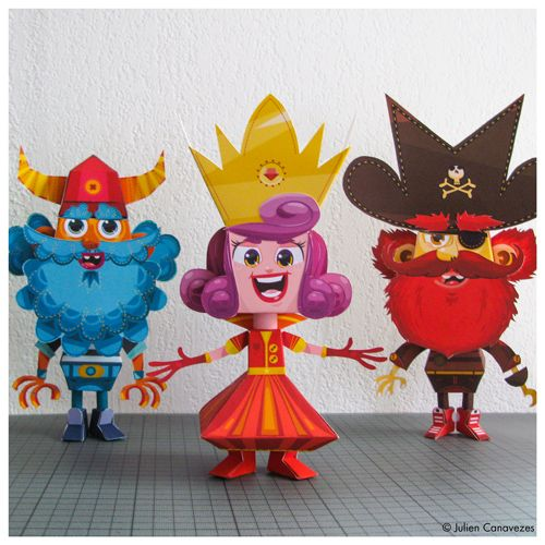 #papertoys #pirate #viking #princesse http://www.toyzmachin.com
