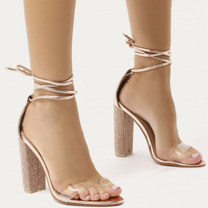 Glitter Block Heels In Gold Celebrityfashionshoes Womencelebrityshoes Trending Fashion Shoes Heels Celebrity Shoes
