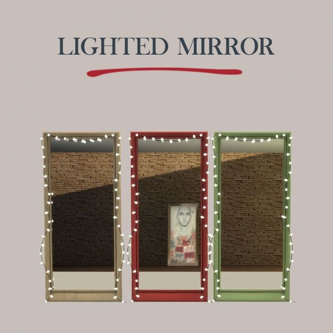 Lighted Mirror At Leo Sims Sims 4 Updates Sims 4 Sims