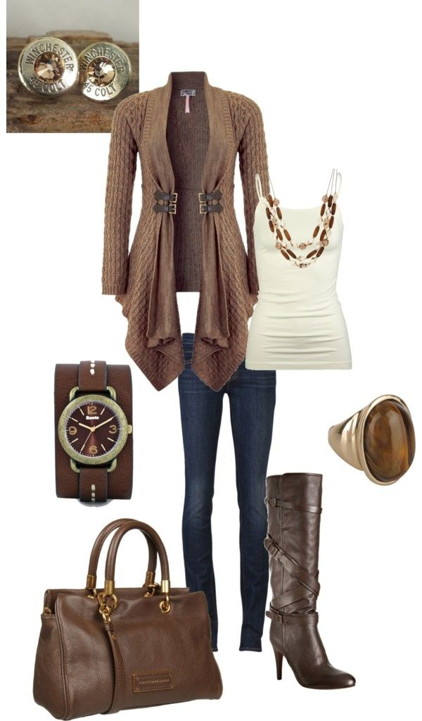 """I love every thing about this outfit!  """"Lots of brown"""" by kaybraden on Polyvore"""