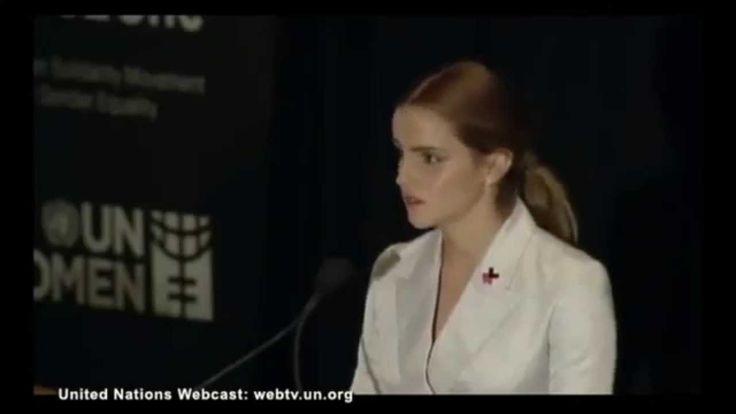 """Emma Watson """"He For She""""-speech at the UN as ambassador of UN Women Global Goodwill (2014)"""