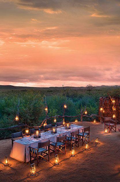 The Boma at Kopano Lodge #MadikweSafariLodge #MOREplaces #LuxurySafari #MalariaFreeSafari #KopanoLodge