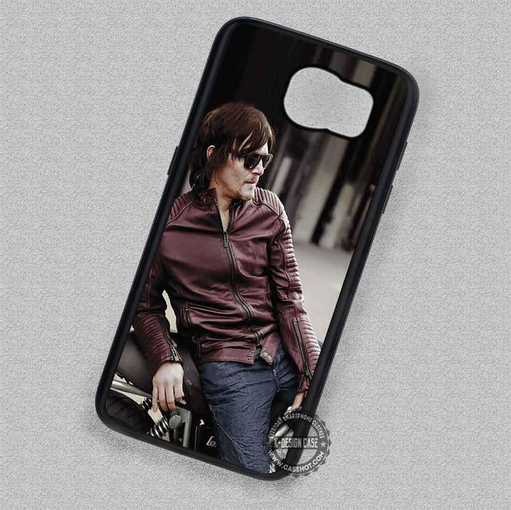 Leather Jacket Motorbike Norman Reedus Walking Dead - Samsung Galaxy S7 S6 S5 Note 7 Cases & Covers