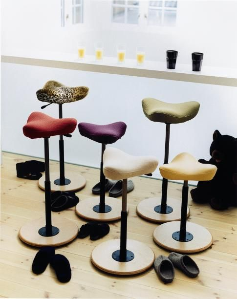 I love these stools but honestly, for the price, I really need to figure out how to make one myself.   Move II by Varier