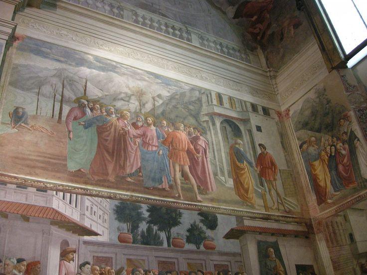 3-  MASACCIO - Il pagamento del tributo - affresco - 1424-1425 ca.- Cappella Brancacci (parete sinistra), Chiesa di Santa Maria del Carmine, Firenze.