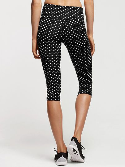 Knockout by Victorias Secret Crop-black and white dots