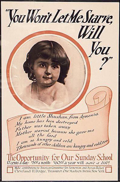 Vintage Armenian Genocide Poster