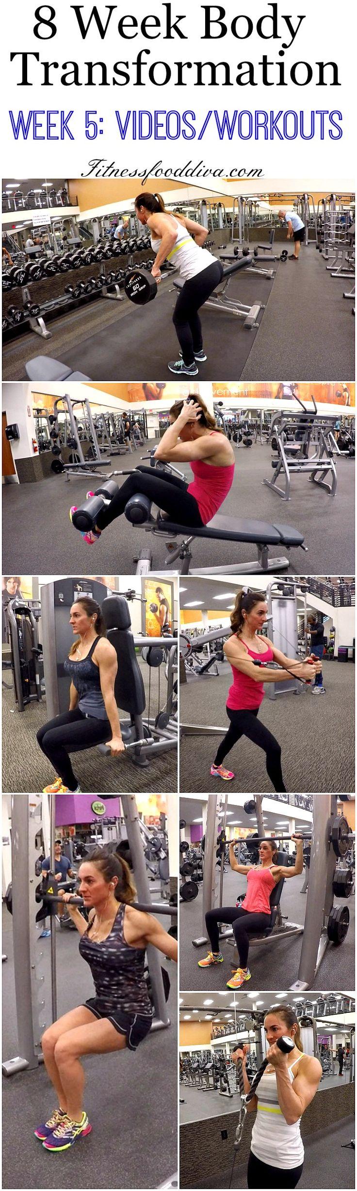 8 Week Body Transformation: Week 5 Videos/Workouts