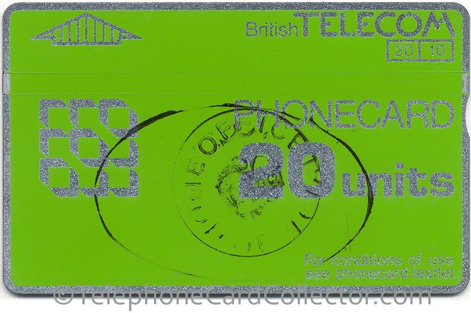 Home Office Official - Prison use - BT Phonecard - 20unit - CN: 927F