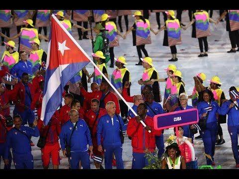 Desfile de la delegación de Cuba en Rio 2016