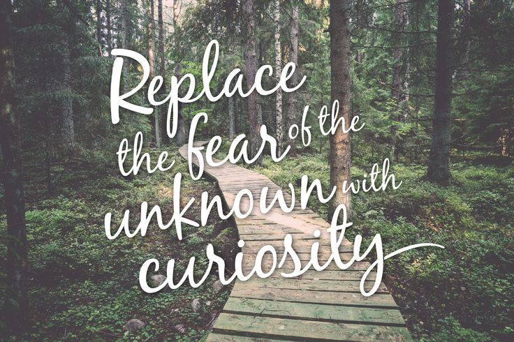 """Replace the fear of the unknown with curiosity"" by Lauren Proctor for Open Colleges #inspiration #quote #curiosity #opencolleges"