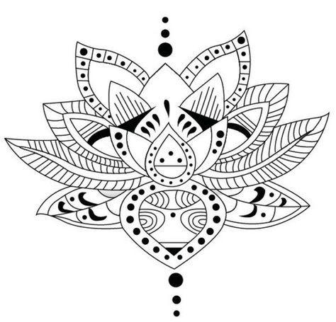 16 best mandalas para dibujar images on Pinterest | Mandala tattoo ...