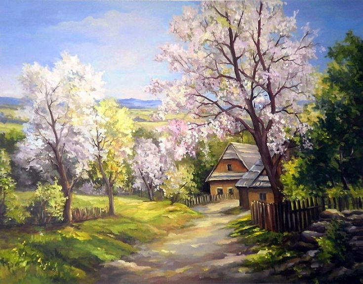 ANCA BULGARU (ROMANIA, 1955)... ОСЕНЬ. СКАЗОЧНЫЙ ЧЕРТОГ