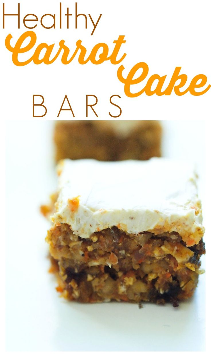 These healthy carrot cake bars are incredible you can t go wrong with this easy and healthy dessert recipe such a great special treat with an incredible