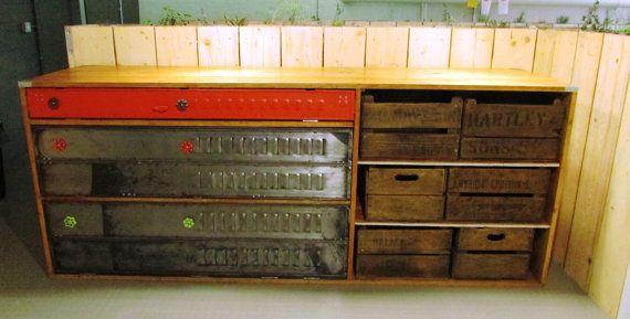 Bespoke Vintage Industrial sideboard kitchen by TheRetroStationUK