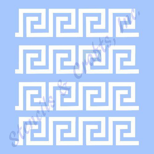 "GREEK KEY BORDER stencil stencils new template background pattern scrapbook pochoir pochoirs art templates paint craft 8"" x 10"""