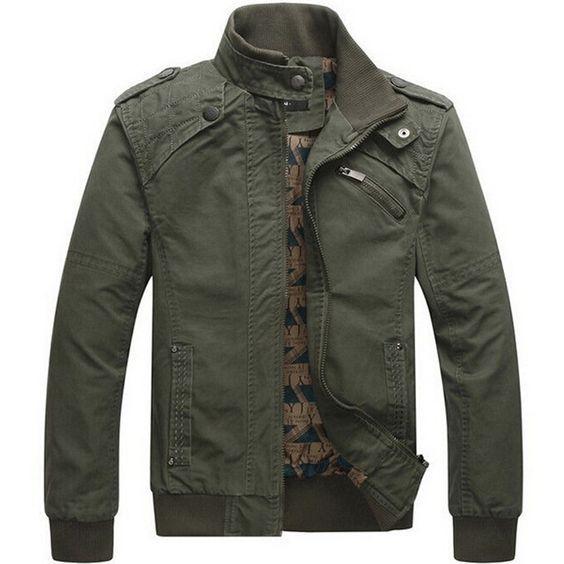Chaquetas de los hombres Casuales de algodón lavada abrigos jaqueta masculina prendas de Vestir Exteriores del collar Del Soporte Militar Del Ejército Al Aire Libre hombres parka Abrigo
