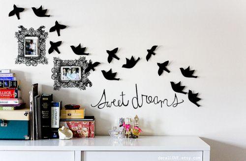 cute.Wall Art, Wall Decor, Dorm Room, Dormroom, Wall Decals, Girls Room, Room Ideas, Desks Layout, Sweets Dreams