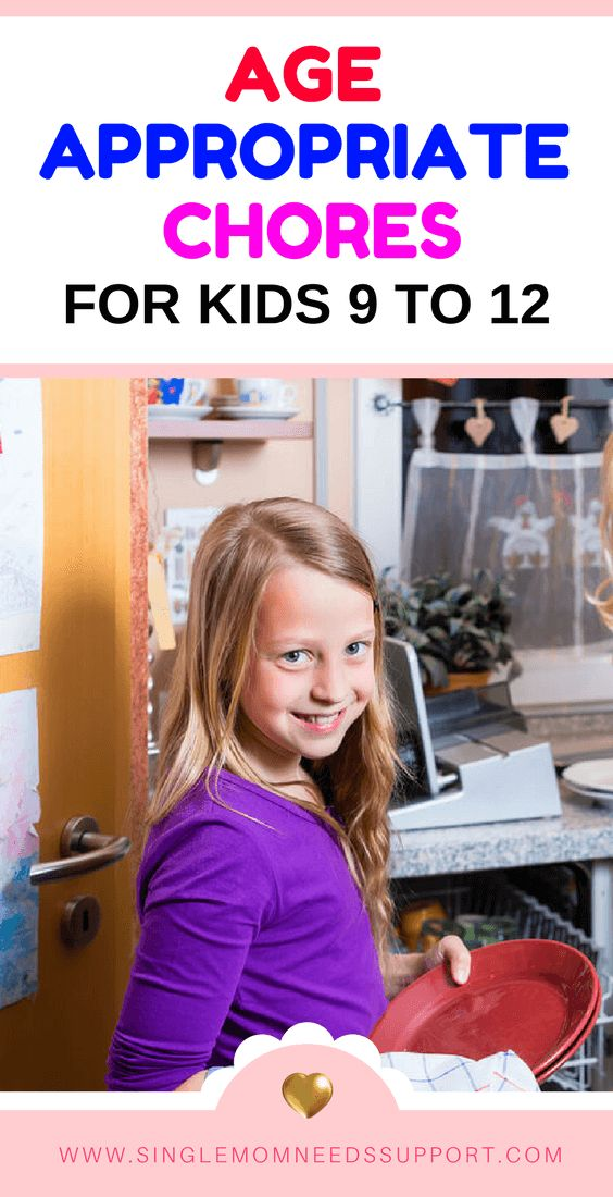 Age Appropriate Chores for Kids 9 to 12 - #Motherhood #Singlemotherhood #Parentingtips #Ageappropriatechores