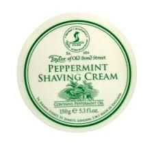 Taylor of Old Bond St Shaving Cream in Bowl Peppermint
