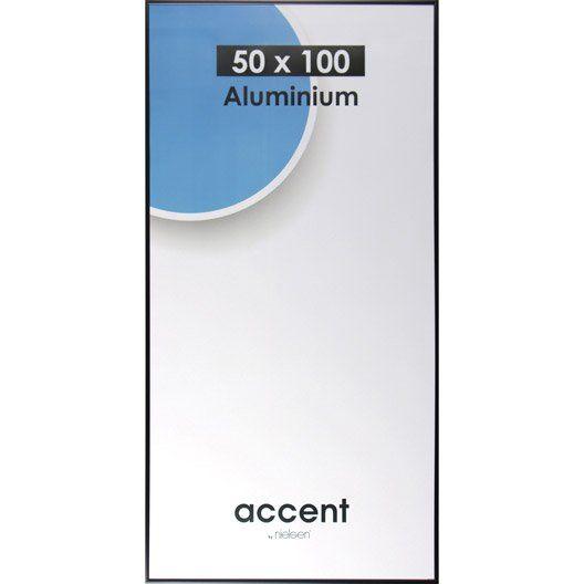 Cadre Accent, 50 x 100 cm, noir