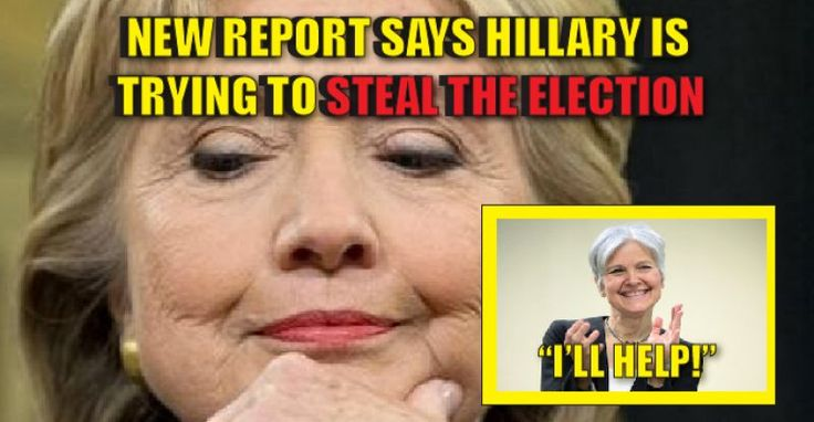 BOMBSHELL REPORT Shows Hillary Clinton is Trying to STEAL THE ELECTION - 11/26/16