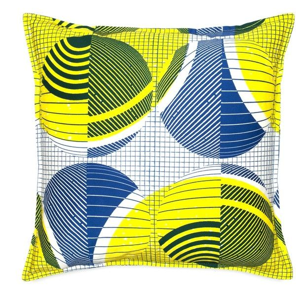 Livin' in a box Handmade Colorful Cushion Cover G2.418 -... ($72) ❤ liked on Polyvore featuring home, home decor, throw pillows, blue, blue home decor, blue throw pillows, rectangle throw pillow, white toss pillows and blue toss pillows