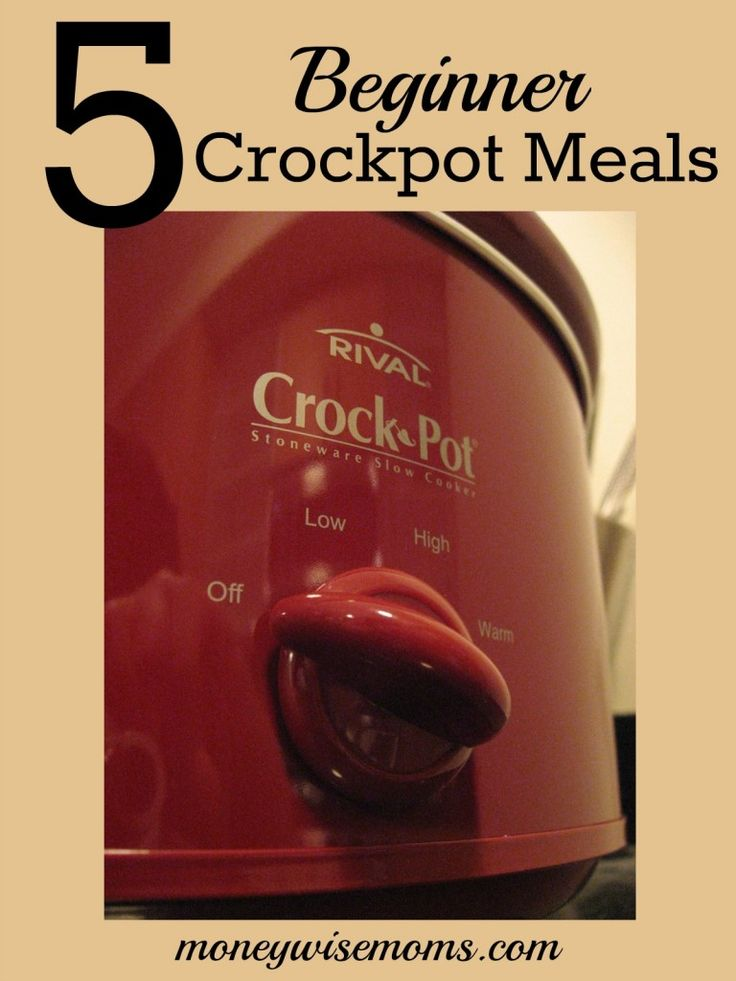 Beginner Crockpot Meals that anyone can cook--recipes with just two ingredients, and each is very forgiving (you can't overcook these!)
