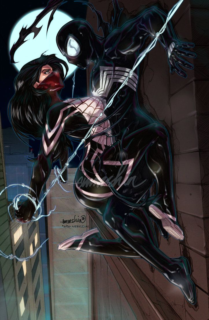 Silk n'Symbiote Spidey by emmshin on DeviantArt...esto tendrá resultados sexuales
