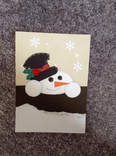 Winter is coming #winter  #card #snowman