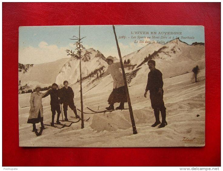 CPA Sports d´Hiver - l´Hiver en Auvergne - les sports au Mont Dore et à la Bourboule - le ski dans la vallée d´Enfer