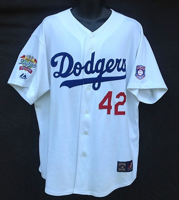 Dodgers Jackie Robinson 42, 100 Yr Anniversary Jersey 1890-1990 MLB Baseball Jersey, LargeAuthentic, Baseball, Anniversaries Jersey, American Legends, Nfl, Dodgers, Jackie, 1890 1990 Mlb, Jersey 1890 1990