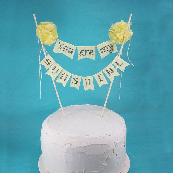how to make a birthday cake banner