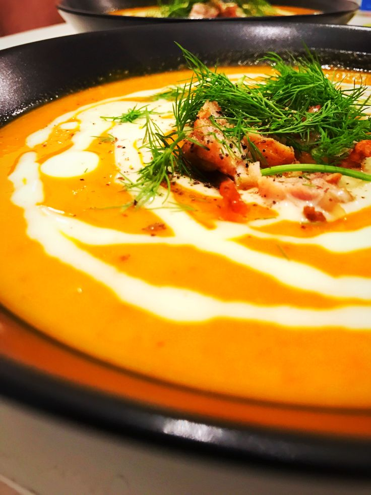 pumpkin soup with home made mayo, grilled chicken and fresh dill #paleo #whole30 #glutenfree #lactosefree #healthyfood