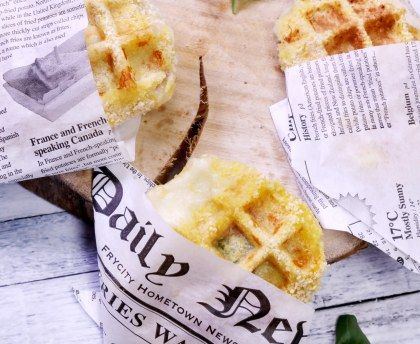 gaufre de mozzarella panée : Recette de gaufre de mozzarella panée - Marmiton