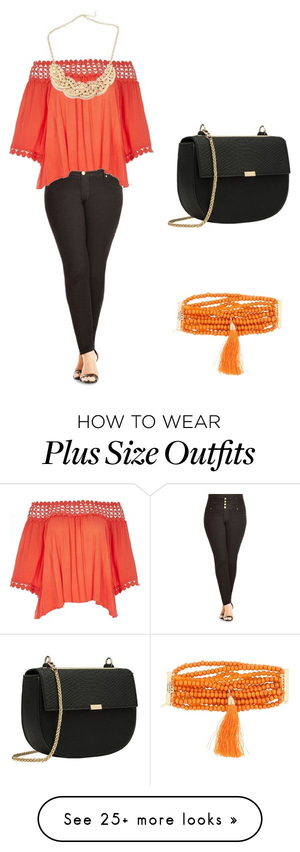 """Plus Size"" by tguedes on Polyvore featuring City Chic, River Island and Rosantica"