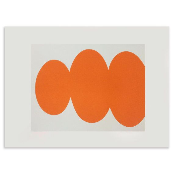 Orange Form Handmade original Screenprint. by littleprintpress, £125.00 Emma Lawrenson