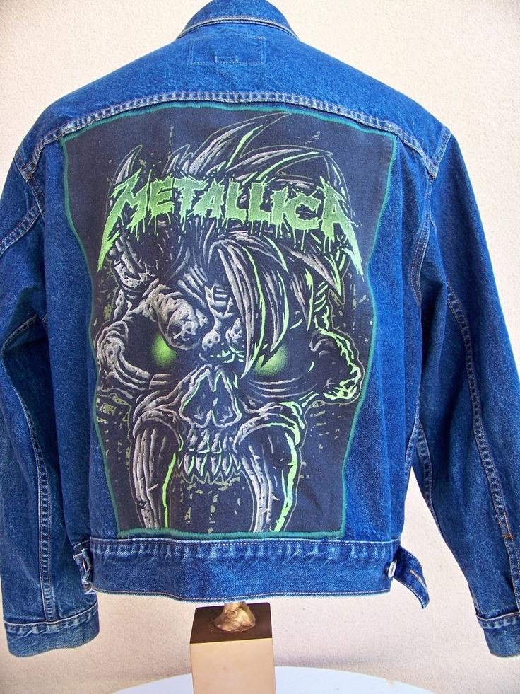 "BAREFOOT VINTAGE ORIGINAL METALLICA GAP JEAN JACKET  $55.00  www.barefootvintage.com ""SOLD"": Originals Metallica, Metallica Gap, Wwwbarefootvintagecom Sold, Jeans Jackets, Gap Jeans, 55 00 Www Barefootvintag Com, Barefoot Vintage, Vintage Originals, 5500 Wwwbarefootvintagecom"