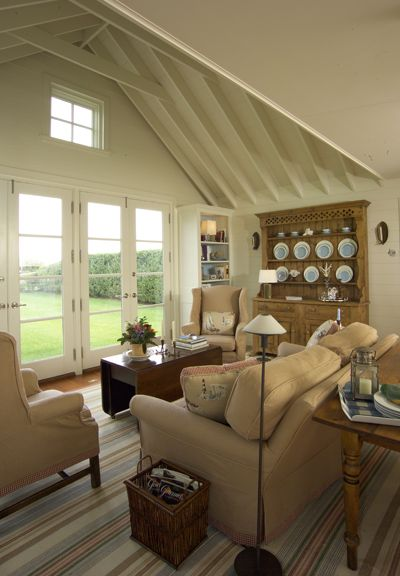 Beach Cottages Capes Living Living Room Milner Design Coastal Decor