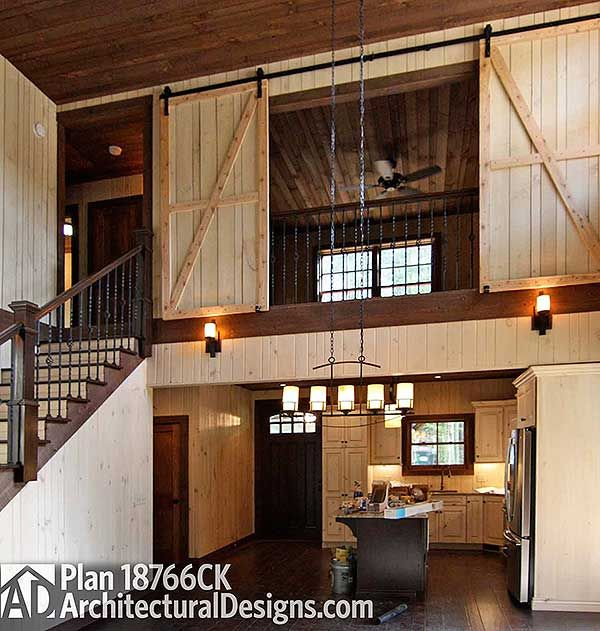 The 25 best barn house plans ideas on pinterest barn for Upstairs bedroom designs