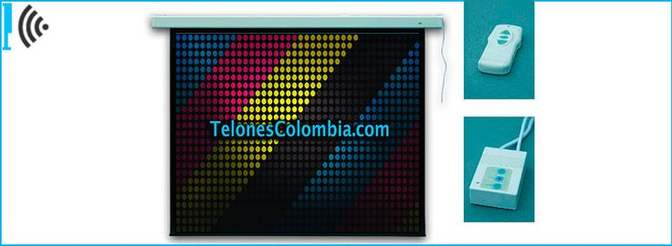 Pantalla con motor para video beam de 203x203 cms