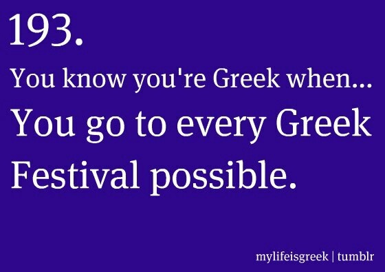 You know you're Greek when