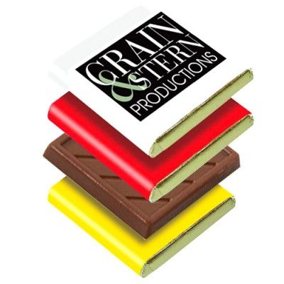 Promotional Chocolate Squares are ideal for events and exhibitions. Have a bowl at your next promotional event and let your customer take away your branding with them!